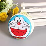 #7: Techonto Doraemon Cartoon Zipper Cable Coin Earphone Earbuds Storage Case Carrying Pouch Bag SD Card Holder Mini Box Knitting-Needle Case