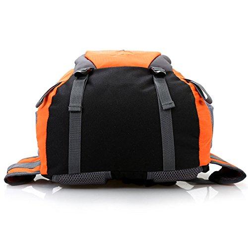 All'aperto Sport arrampicata Viaggio Le spalle Campeggio Impermeabile Escursionismo indossabile Nylon Zaino (Rosso) Blu scuro