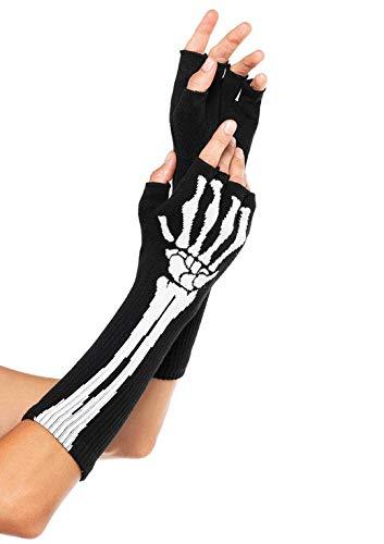 Kostüm Avenue Skelett Leg - Leg Avenue 2144 - Fingerlose Handschuhe