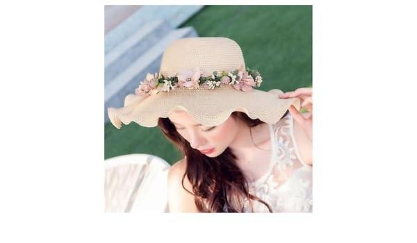 SLB Works Brand New Women Ladies Summer Sun Beach Hat Outdoor Sun Hat with Flowers  Elegant 2017 HF  Amazon.in  Industrial   Scientific 0b5b08e3883a