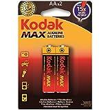 Kodak Max Alkaline Batteries AAx2 AA LR6 1.5v