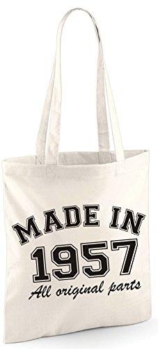 Made in 1956All Original Parts 60. Geburtstag Geschenk Tasche Edward Sinclair Schultertasche natur