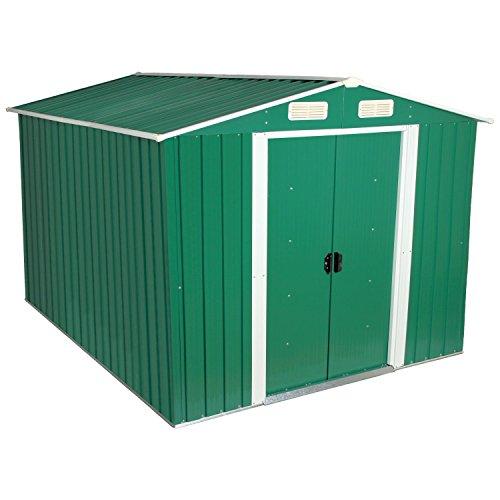 Zelsius - Gerätehaus, Geräteschuppen mit Giebeldach, 3 m x 2,5 m, grün