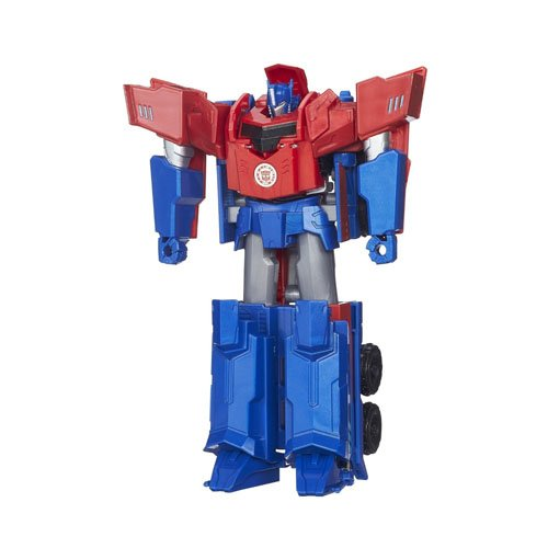 Hasbro Transformers B0899ES0 - Robots In Disguise 3-Step Changers Optimus Prime, Actionfigur (Transformers Optimus 4 Prime)