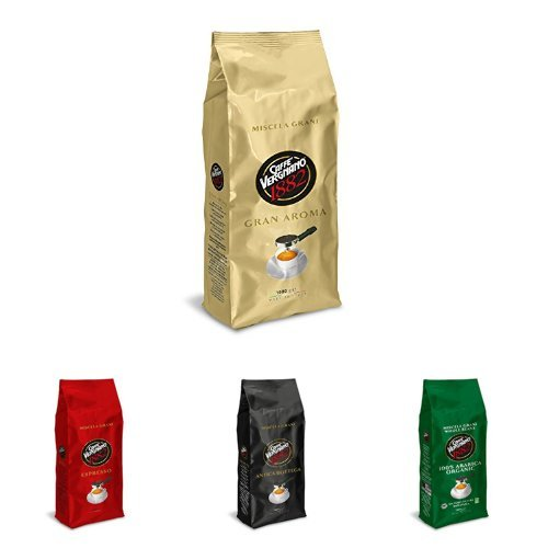Caffè Vergnano Ganze Bohne Quartett - Probierpaket 4 x 1kg