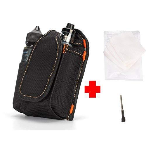 Vape Tasche für Reisen, Aiture Werkzeug Tasche Dampf Tragetasche Tragbare Tasche Pole Box Zerstäuber E Flüssigkeit Aufbewahrungstasche mit Bio-Baumwolle/Reinigungsbürste