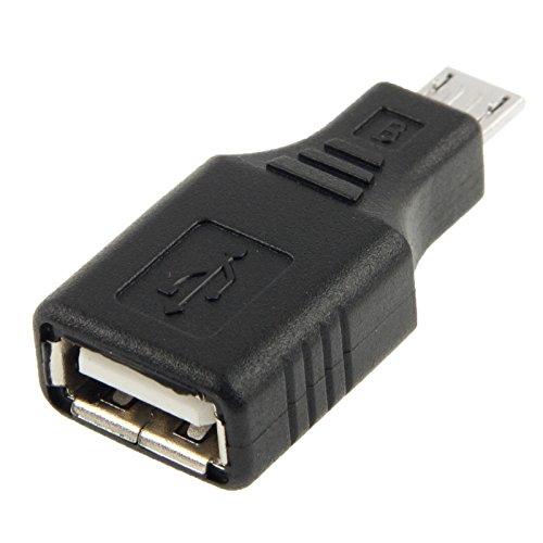 TechExpert Adaptateur Usb A Femelle Usb Micro B Male Otg Usb Host Pour Tablettes Et Smartphones Avec Port Micro Usb Otg