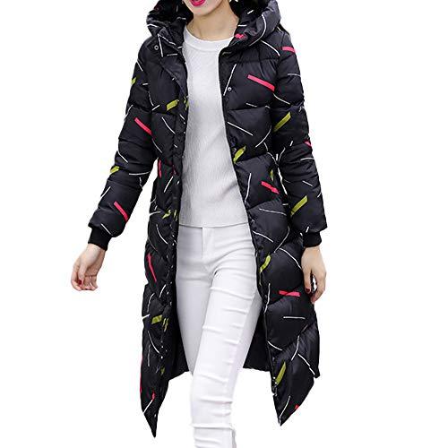 Frau Winter Warm Oberbekleidung Mit Kapuze Mantel Schlank Baumwolle gepolstert Jacke