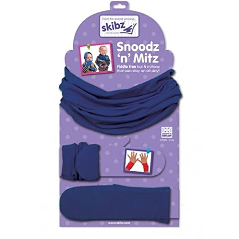 Blue Snoodz'n Mitz Hat and Mittens by