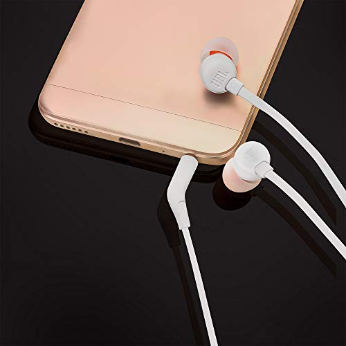 JBL Tune 110 in-Ear Headphones with Mic (White) Image 7