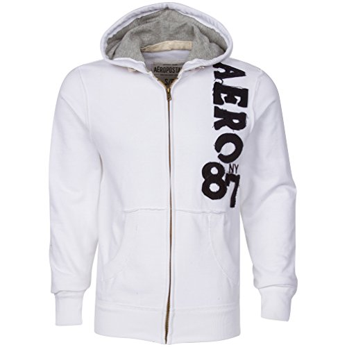 aeropostale-ny-87-men-hoodie-white-front-zipper-size-small