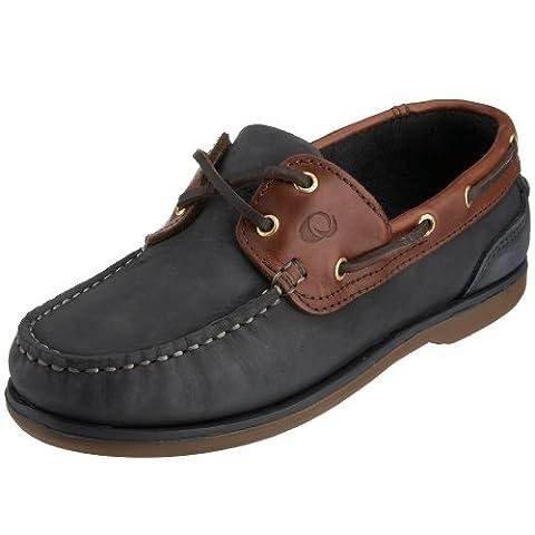 Quayside Clipper, Chaussures bateau homme - Bleu (Marine / Châtaigne), 43 EU