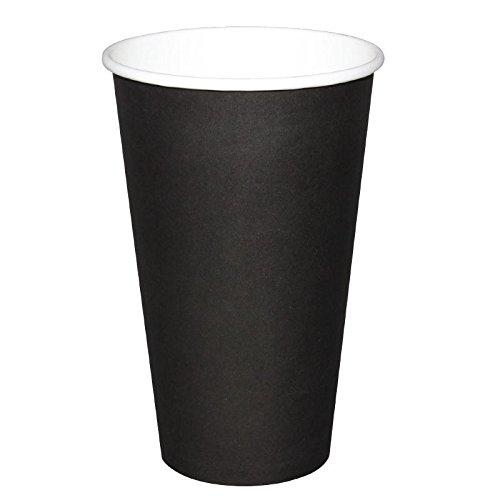 50 X Olympia jetables Hot Tasses Noir 454 ml 453,6 gram boissons fête Restaurant
