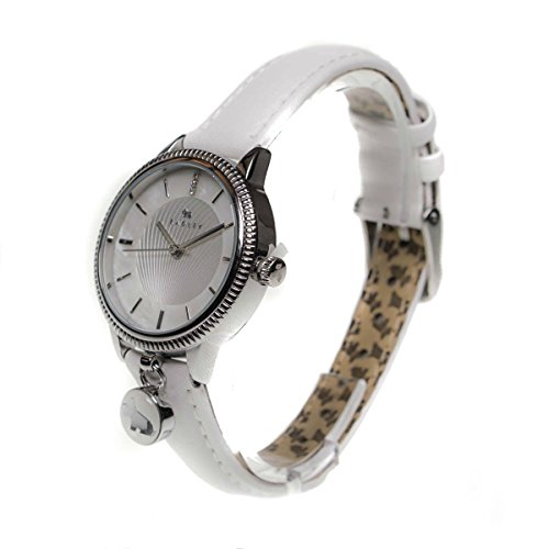 Radley White Leather Strap Dog Charm With Pearl Face Ladies Watch Ry2165s