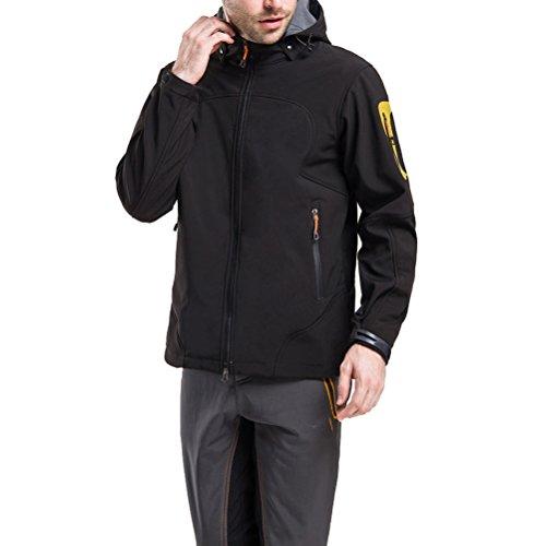 Zhuhaitf Mode Autumn Men's Outdoor Mountainning Windproof Coat Waterproof Jacket Black