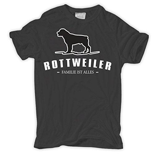 Spaß kostet Männer und Herren T-Shirt Rottweiler - Familie ist Alles Größe S - 8XL Körperbetont grau