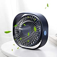 Santo USB Table Fan, Mini Desk fan Use with 3.94ft Cable, Cooling Fan for Home & Office Quiet and Powerful, Cools You Down in Hot Summer (Dark Blue)