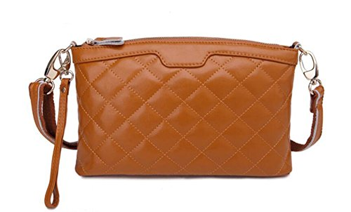 Clutch In Pelle Trapuntato Ms. Brown