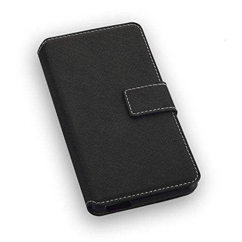 Book Style Handy Tasche - NAS. - für Alcatel A5 LED - Cover Case Schutz Hülle Etui Schutzhülle in der Farbe Schwarz - (Bulk)