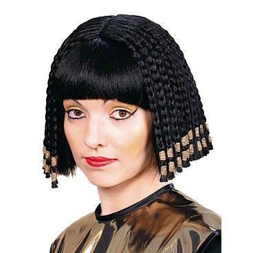 Nofretete Ägyptisches Kostüm (Perücke: »Nofretete«, schwarze Haare,)