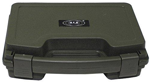 Pistolen-Koffer, Kunststoff, klein, abschließbar, oliv -