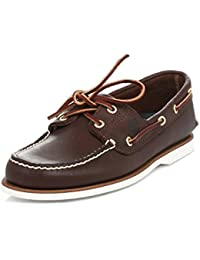 d837c09ec722e MENS TIMBERLAND CLASSIC BROWN LEATHER 2 EYE 74035 BOAT SHOES UK SIZES 6-12.5