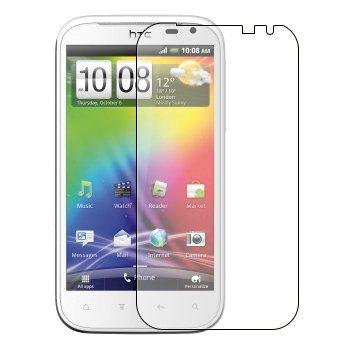 6 x Displayschutzfolie passgenau für HTC Sensation XL Runnymede - Anti-Kratzer Displayschutz unsichtbar Folie