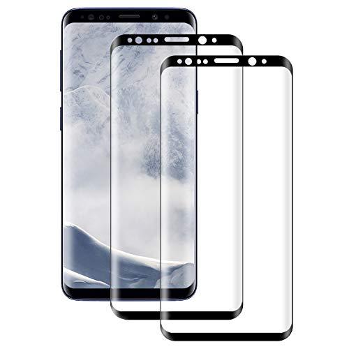 POOPHUNS Protector de Pantalla para Samsung Galaxy S8, Cristal Templado Samsung Galaxy S8 2-Unidades Cristal Vidrio Templado Premium 9H Vidrio Real No se despega uellas Dactilares Libre