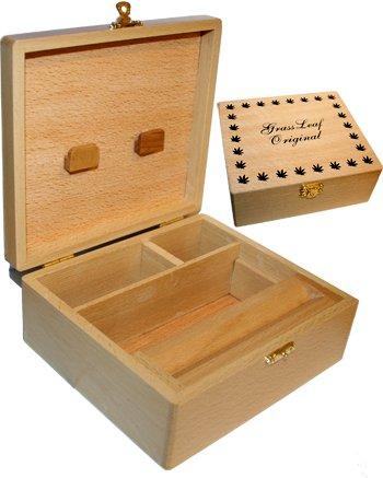 GRASSLEAF Grassleaf Wooden Rolling Box Roll Box Smoking Large by Grassleaf