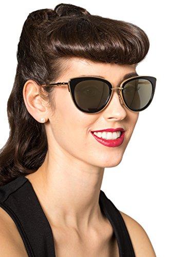 Verbotene Wynn Vintage Retro Sonnenbrille - Gold oder Grau - Gold / One Size