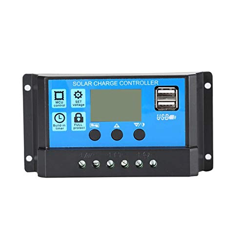 Mouchao 12V/24V Solar Panel Charger Controller Battery Regulator USB LCD Controller -