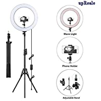 upReale 12 Inch Selfie Ring Light with 7 ft Tripod Stand and Phone Holder with 3 Light Modes Brightness Level for…