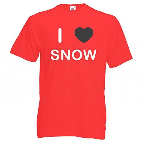 I Love Snow - T-Shirt Rot