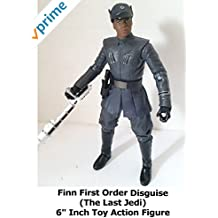 """Review: Star Wars Black Series Finn First Order Disguise (The Last Jedi) 6"""" Inch Toy Action Figure"""