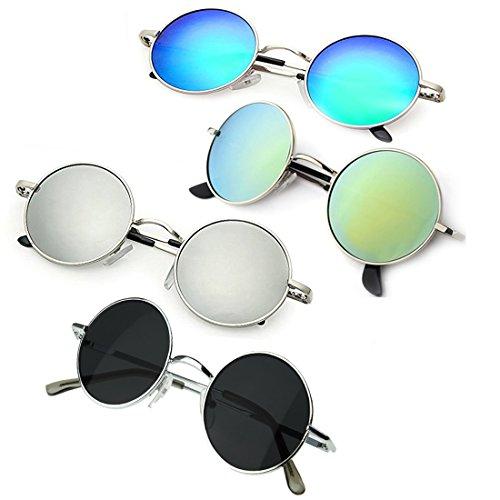 Elligator Unisex rounds Combo Sunglasses