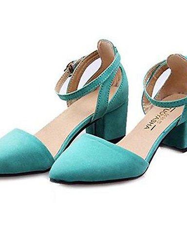 WSS 2016 Chaussures Femme-Habillé / Soirée & Evénement-Noir / Bleu / Vert / Rouge-Gros Talon-Talons-Talons-Synthétique blue-us8.5 / eu39 / uk6.5 / cn40