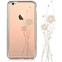 Comma - Cystal lunares swarovski diamond decor gradiente de color carcasa bumper, ballet - champagne gold, iphone 6 plus/iphone 6s plus