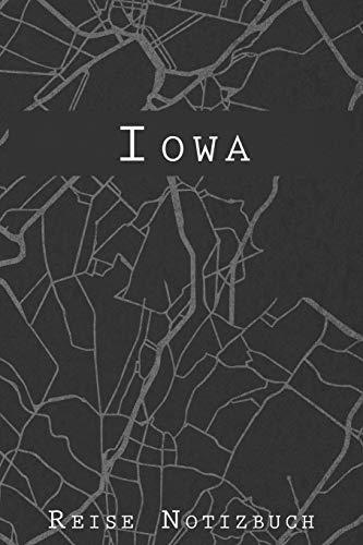 Iowa Reise Notizbuch: 6x9 Reise Journal I Notizbuch mit Checklisten zum Ausfüllen I Perfektes Geschenk für den Trip nach Iowa oder einen Roadtrip in Amerika - Iowa Leder