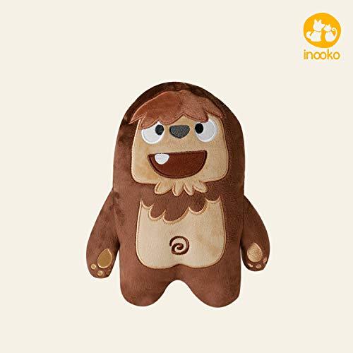 inooko - Mountain Folks, Joey der Bigfoot, Quietschspielzeug, Plüschspielzeug für Hunde. umweltfreundliches Hundespielzeug. Mittlere Größe (20 x 15 cm)