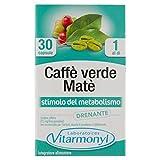 CAFFÈ VERDE MATÈ Vitarmonyl ● Integratore 30 capsule ● Stimolo del Metabolismo, Drenante ● Registrato Ministero Salute Italiano