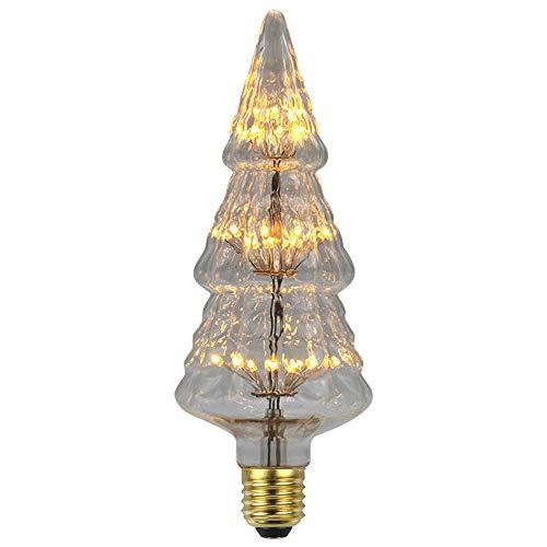 3 pack Weihnachtsbaum formten Edison-Birne geführte Meteorschauerantike kreative dekorative Lichter 3w e27 Glühlampen