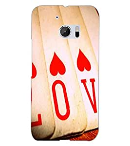 HTC ONE M10 LOVE Back Cover by PRINTSWAG