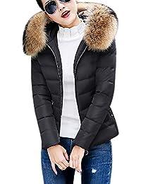 Damen Wintermantel Winterjacke Parka Jacke Kurz Daunenmantel Mantel Mit  Plüsch Kapuze Steppjacke Outwear Warm Daunenmantel Einfarbig 3ed894b2f6