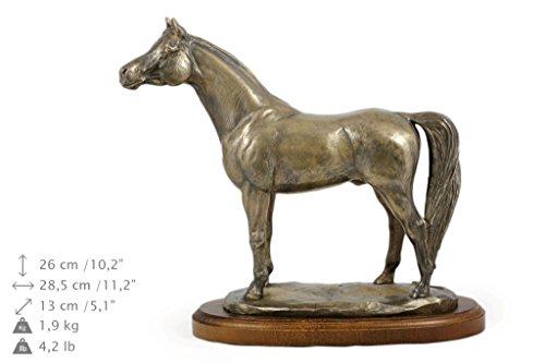 Araber Pferd, Pferd, Bronze, Statue, Holzsockel, liegend, Limitierte Edition, Art Dog