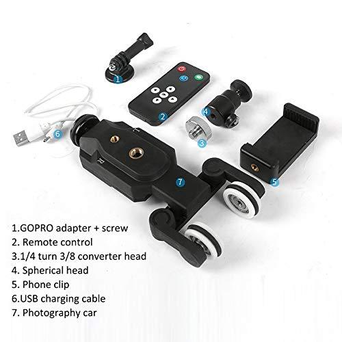 Mini-track (Mini Track Slider Drahtlose Fernbedienung Motorisierte Kamera Slide Video - schwarz)