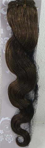 55,9cm Ash Brown (# 08) Body Wave Remy trames de cheveux vierges–Tissage 100% Cheveux Humains vierges brut