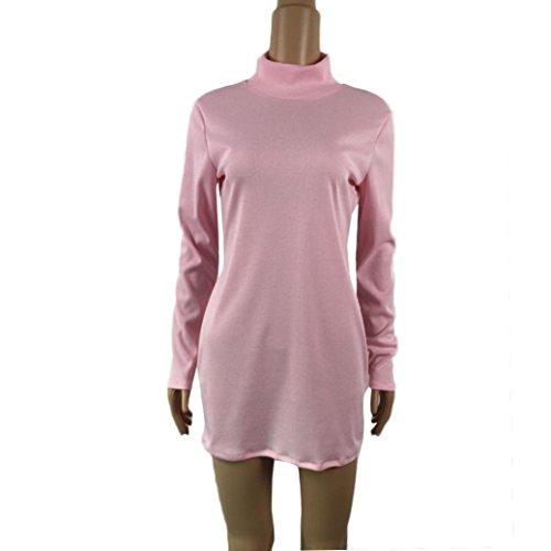 Robe Femme, Fulltime® Womens Bodycon Dress Party Mini robe de soirée Rose