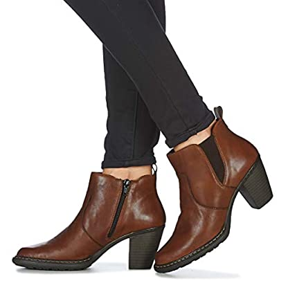 Rieker 55284-26 Ankle Boots/Boots Women Brown Ankle Boots Shoes 8