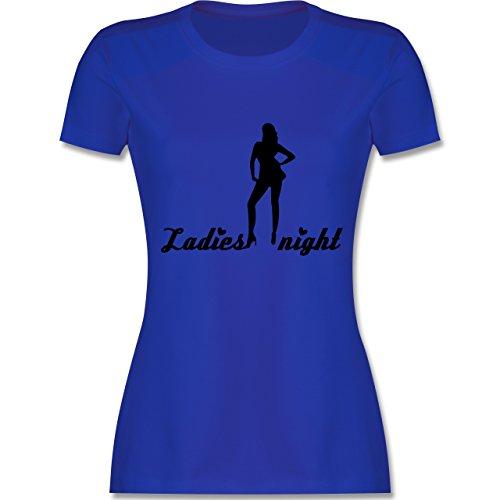 JGA Junggesellinnenabschied - Ladies Night - tailliertes Premium T-Shirt mit Rundhalsausschnitt für Damen Royalblau