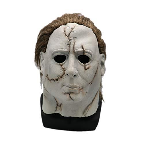 WYJSS Halloween Maske Kopfschmuck Film Moonlight Panic Headgear,White-OneSize